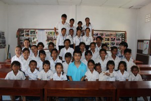 With all the students
